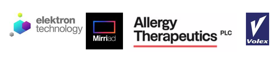 Elektron Technology (soon to be renamed Checkit), Mirriad, Volex and Allergy Therapeutics management are all presenting
